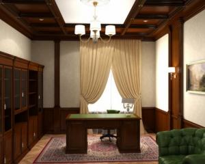 Отделка кабинета (массив+шпон)